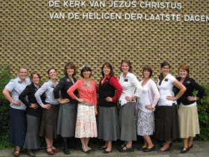 Some lovely sister missionaries in the Belgium mission.