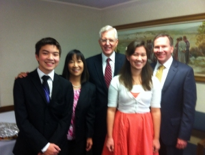 Elder Christofferson visiting our stake conference!